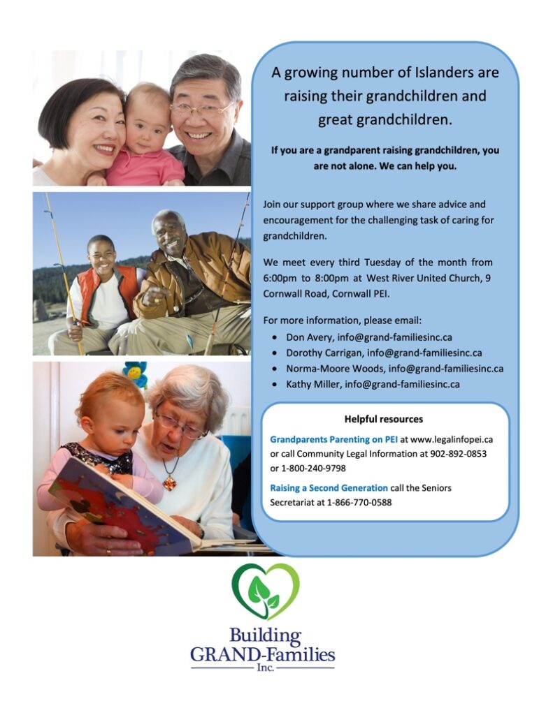 Support Group PEI poster