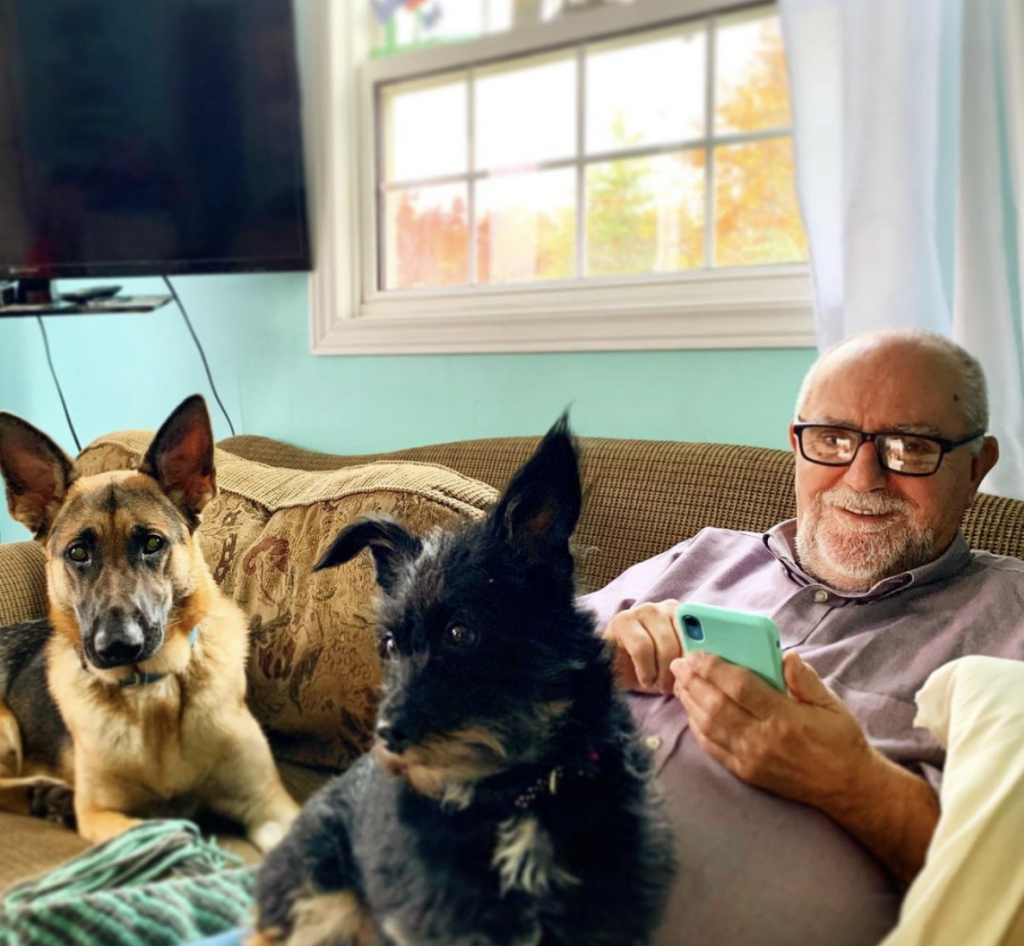 Don Avery with 2 dogs